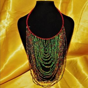 Handmade African Beaded Necklace